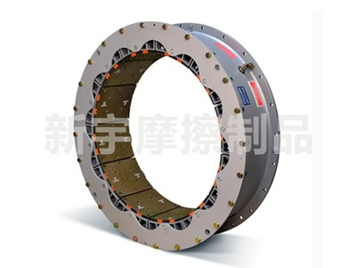 Vented pneumatic clutch steel ring